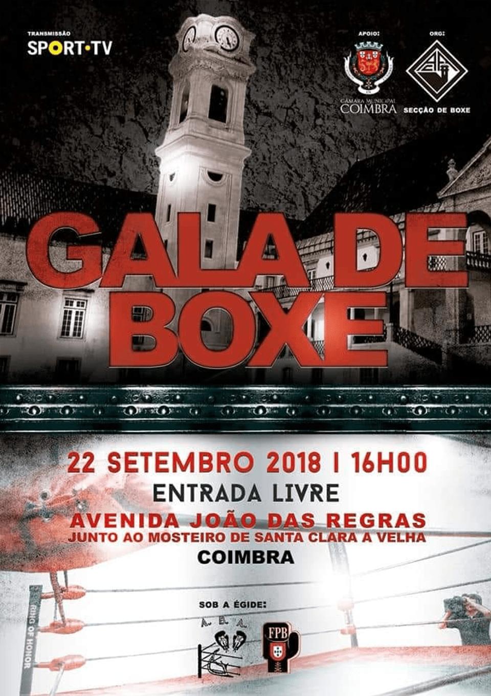 Gala de Boxe Coimbra 22 de Setembro 2018