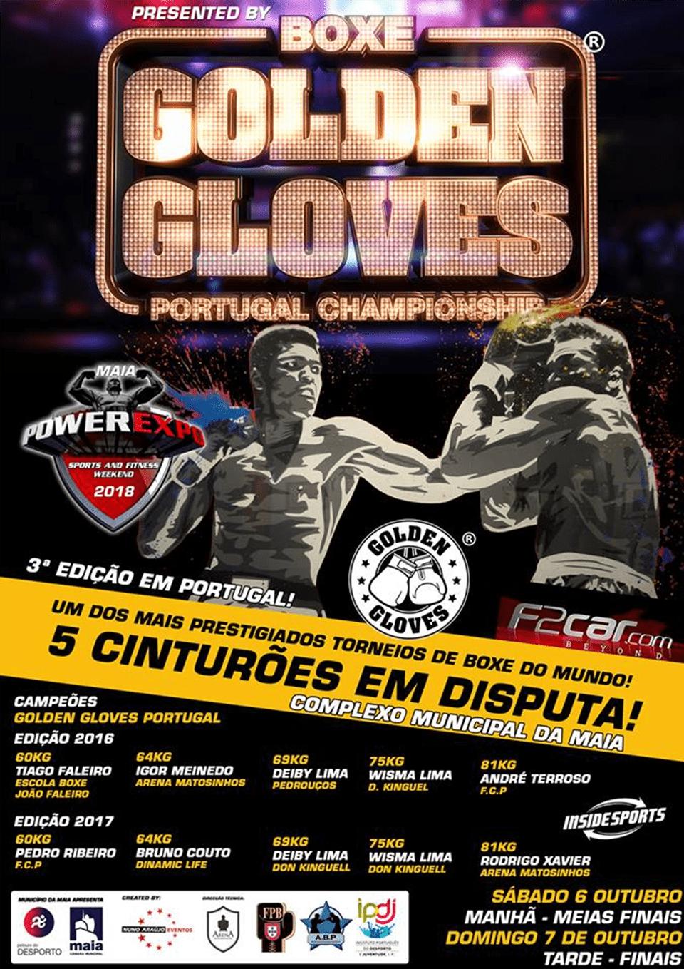 Golden GLoves 6 e 7 de Outubro de 2018 na Cidade da Maia