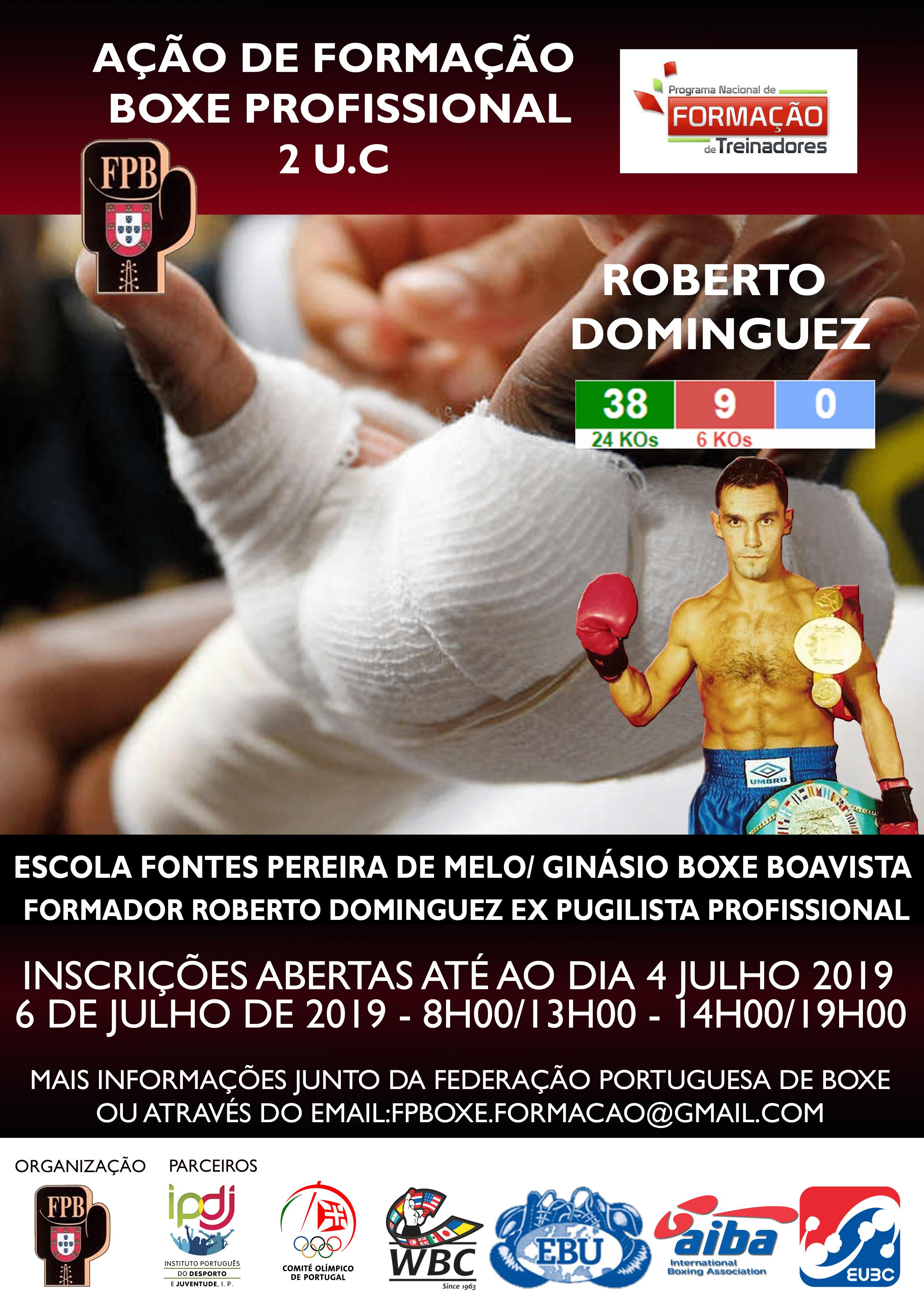 Ação de formação em boxe profissional