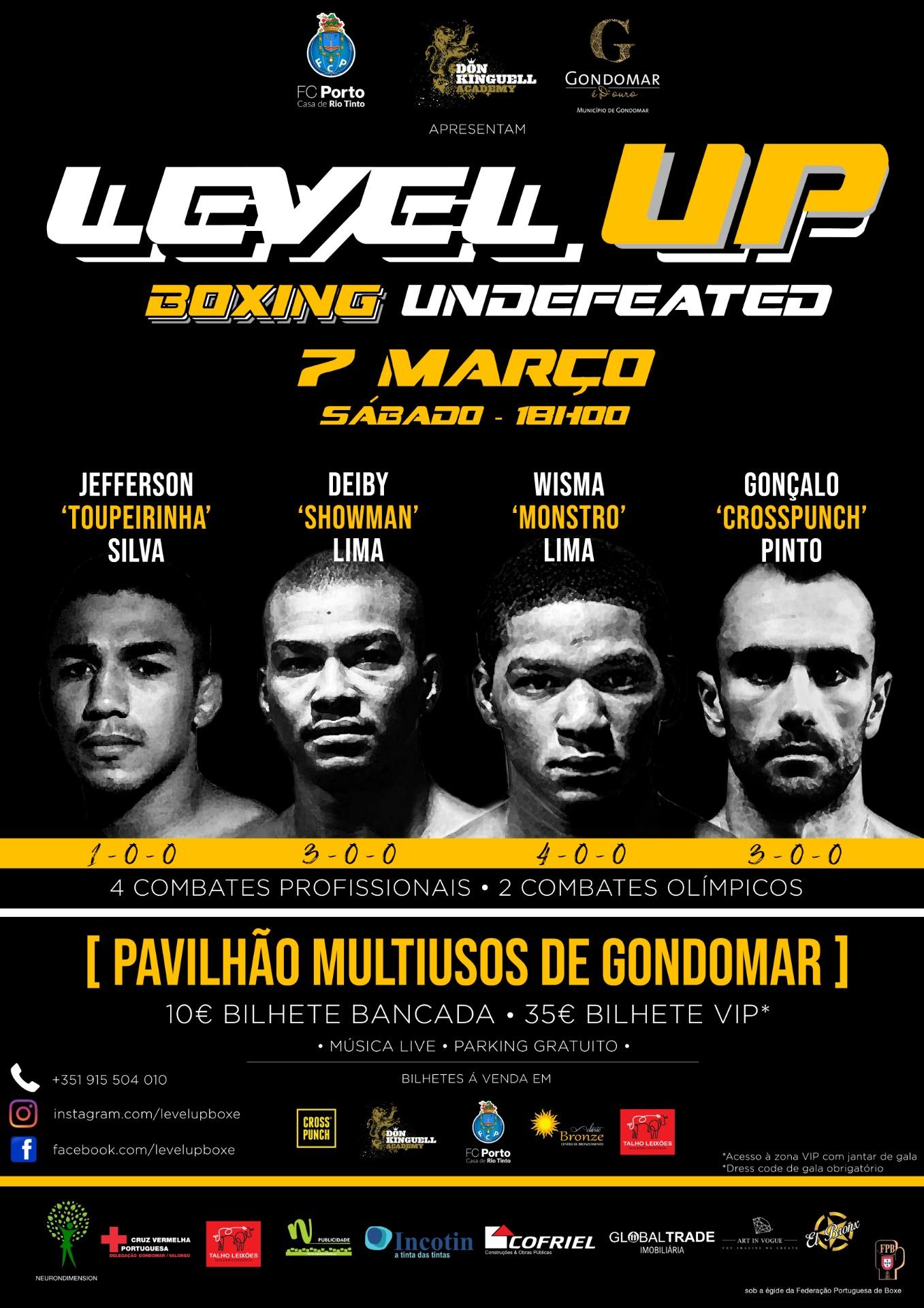 Gala de boxe Profissional -Level Up