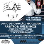 Curso de formação/reciclagem arbitros/juízes boxe